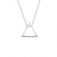 Silver Hanging Triangle Necklace