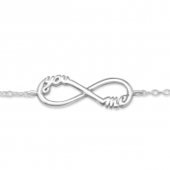 Silver you and me bracelet