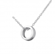 Silver hanging ring necklace