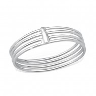 Silver triple lines ring