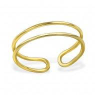 Silver open ring (gold plated)