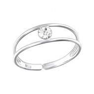 Silver cubic toe ring