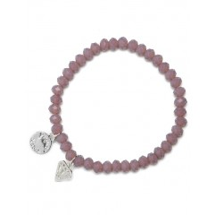 Armband charm diamand Old pink