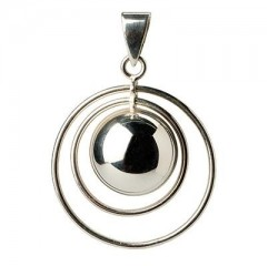 Babylonia Bola Double Ring Silver Plated