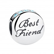 Best Friend bead blauwe zirkonia