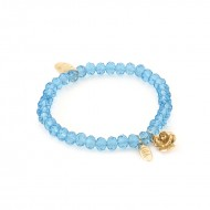 Blauwe ruby and rose armband 6 mm