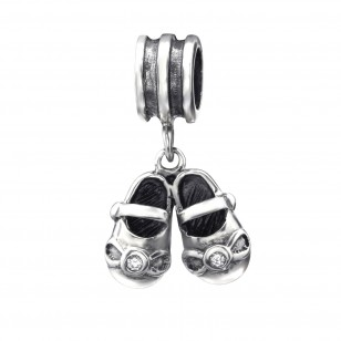 Dangle babyschoentjes met zirkonia oxi
