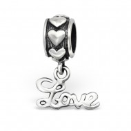 "Dangle letters ""love"""