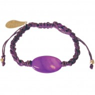 Glare purple bracelet