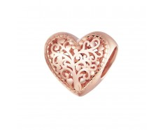 Hart tree of life rose gold bead