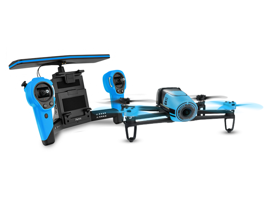 parrot bebop drone skycontroller blue. Black Bedroom Furniture Sets. Home Design Ideas