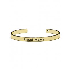 Proud MaMa bangle armband (goudkleurig)