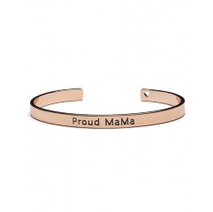 Proud MaMa bangle armband (rosekleurig)