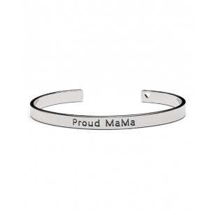 Proud MaMa bangle armband (zilverkleurig)