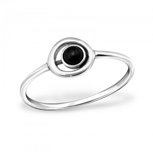 Silver ring black eye
