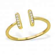 Silver bar ring (gold plated)
