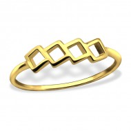 Silver geometric ring (gold plated)