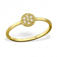 Silver Ring Zirconia (gold plated)