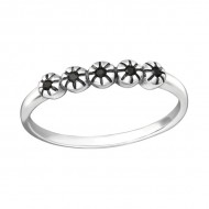 Silver stackable ring