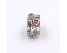 Spacer roze zirkonia bead