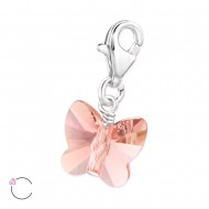Vlinder Swarovski® crystal Blush Rose