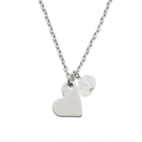 Proud MaMa ketting zilver hart stainless steel