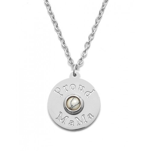 Proud MaMa ketting zilver Proud MaMa logo stainless steel