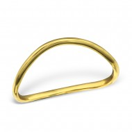 Silver curved ring (gold plated) maat 18